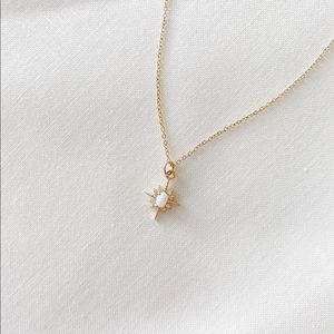 Opal Star Layering Gold Filled Dainty Necklace